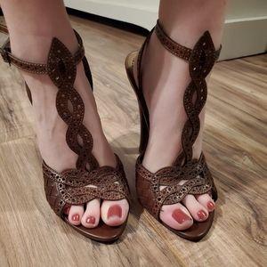 Bottega Veneta Intrecciato Woven Leather Heels